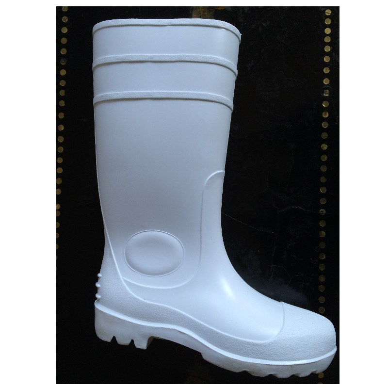 White colors PVC safety boots for food industry