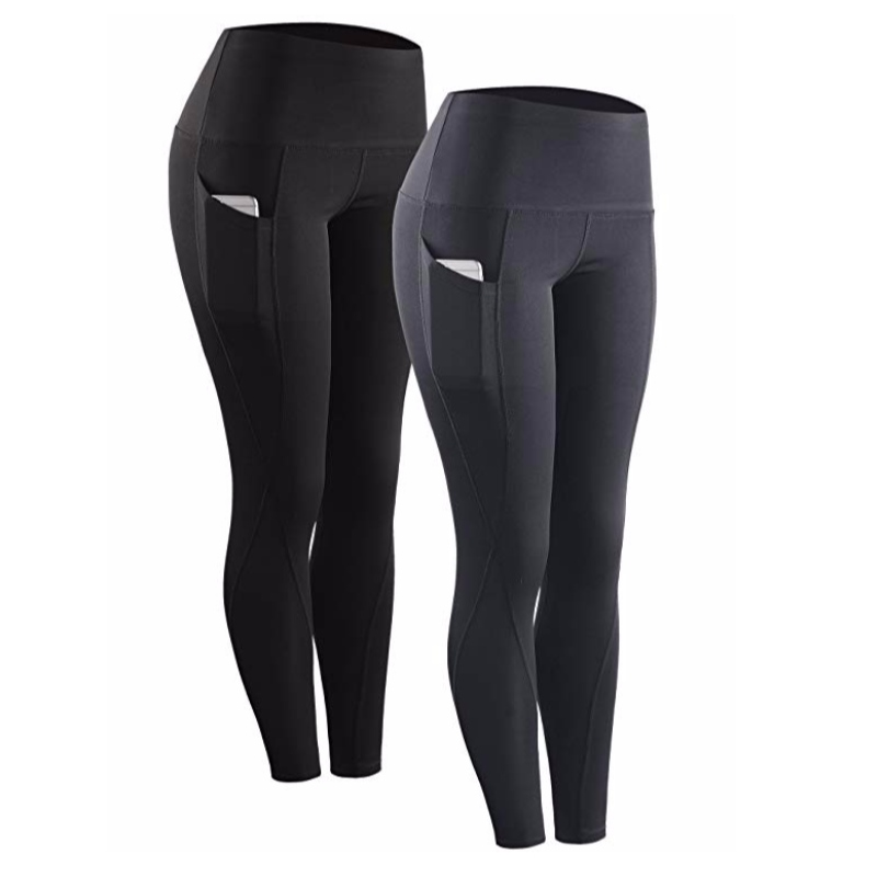 High Waist Running Workout Leggings for Yoga with Pockets Pants Trousers
