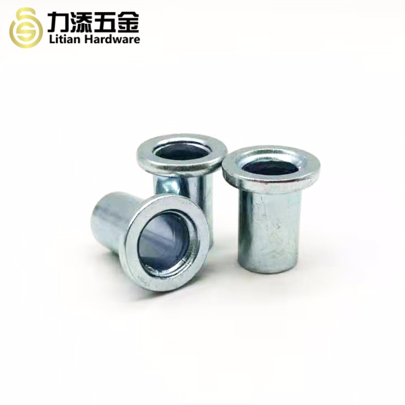 Non standard zinc plated carbon steel differ sizes T type cylinder sleeve