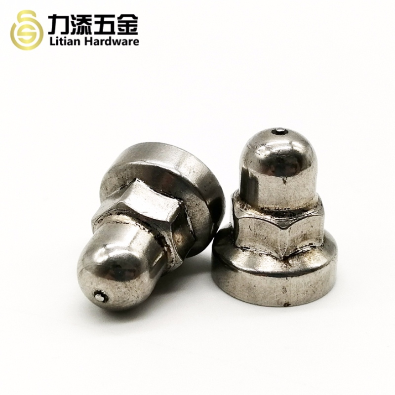Non standard stainless steel weld cap nut for car