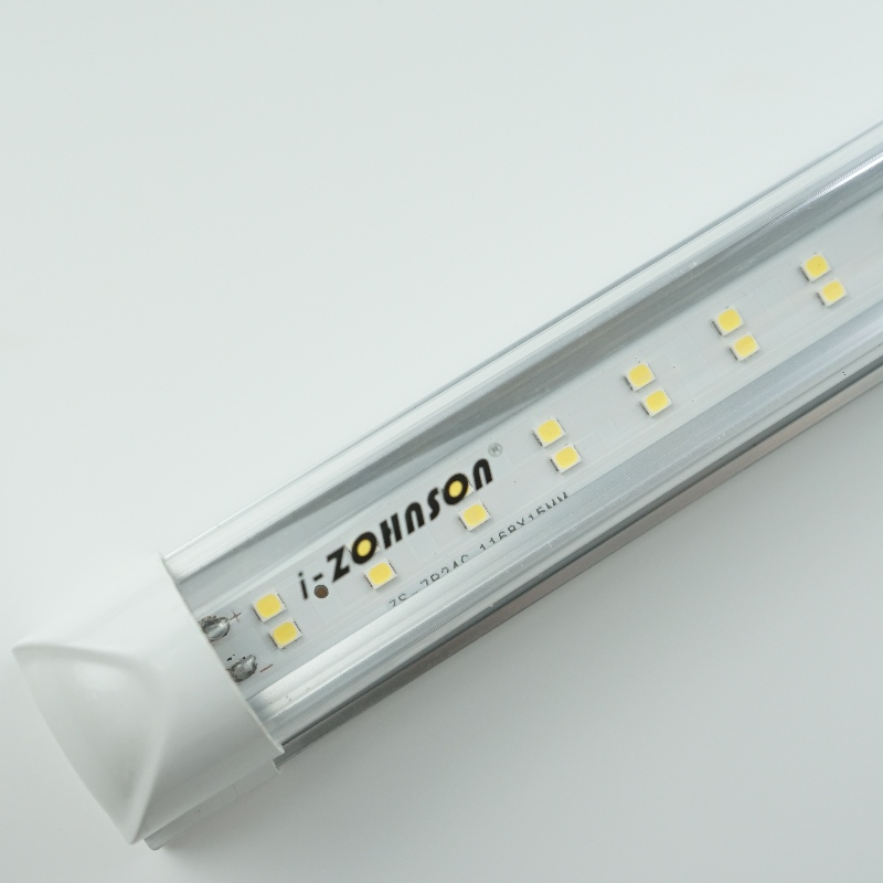 Double Row Flat T8 Integrated LED Tube Fixture