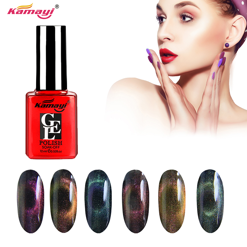Kamayi new product cat eye gel soak off uv led 12ml 3d cat eye gel polish nail polish