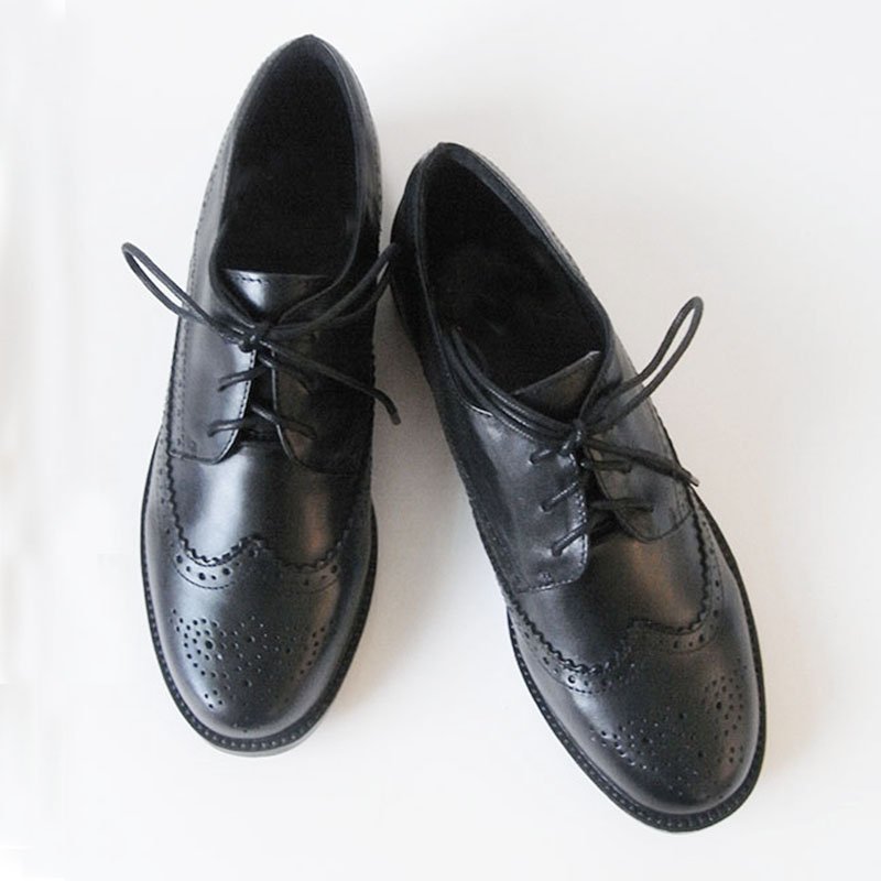 Women's Brogue Leather Shoes