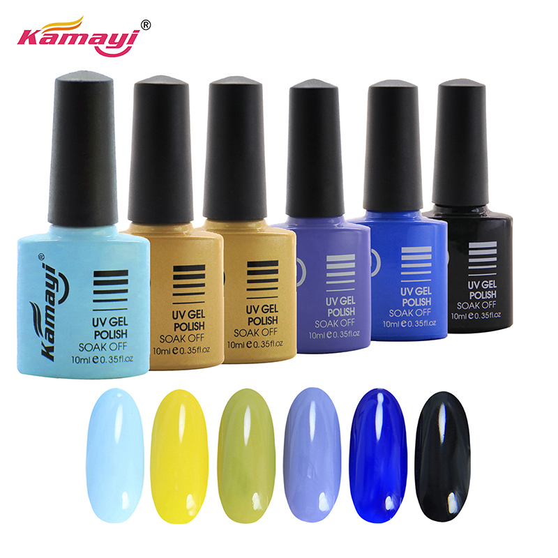 Kamayi sunlight one step gel nail polish uv led soak off fast dry 8ml polish uv gel nails supply custom label