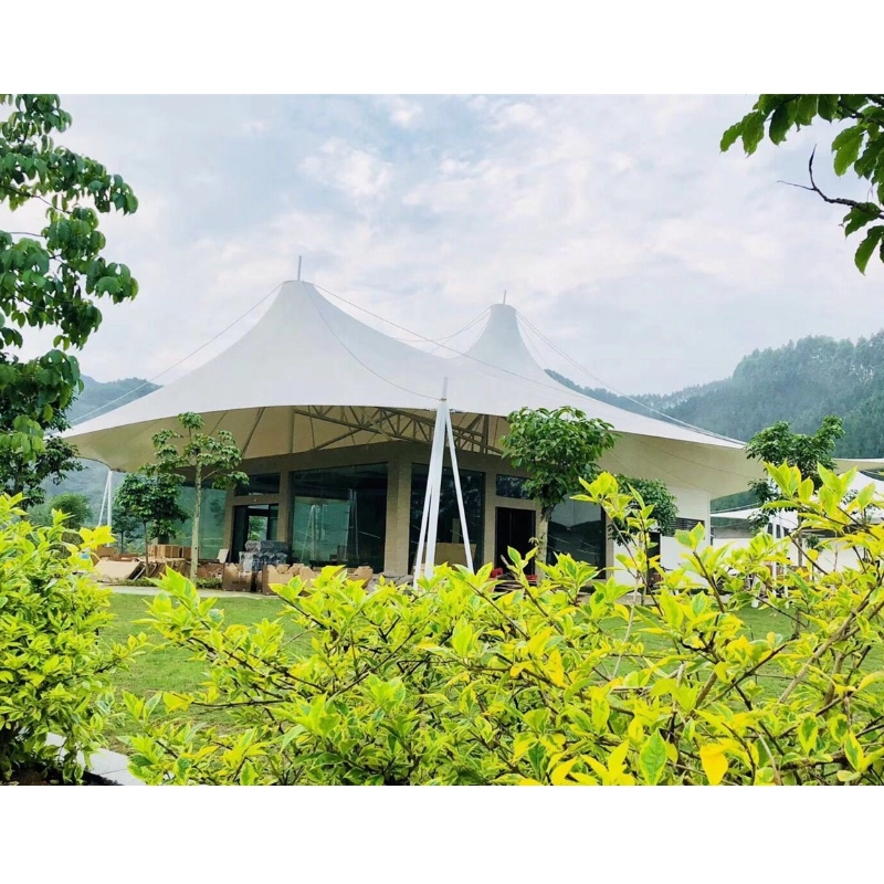 Prefab Outdoor Houses Cheap Glamping Tents Manufacturers PVDf fabric Steel Structure Luxury Tent Hotel