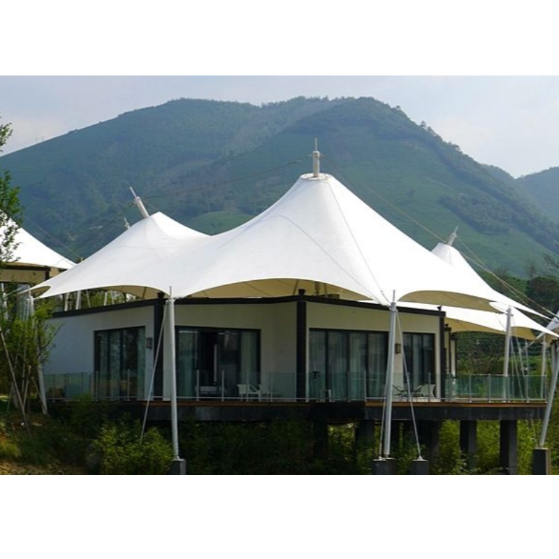 Prefab 2 Persons Houses China Glamping Luxury Tent Hotel Tents Resort With Bathroom And Interior Decoration