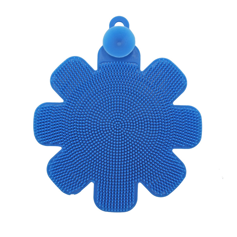 Hot-Sale Cleaning Bowl Washing Flower Shape Silicone Kitchen Cleaning Dish Brush