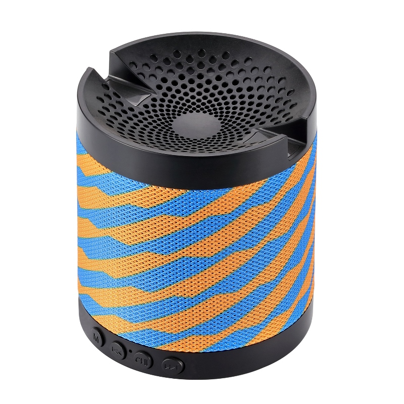YG-BS0U3 Bluetooth Speaker with phone cradle and fabric speaker grill