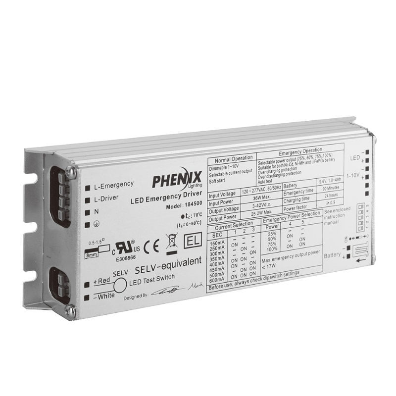 18450X INTEGRATED LED AC + EMERGENCY DRIVER