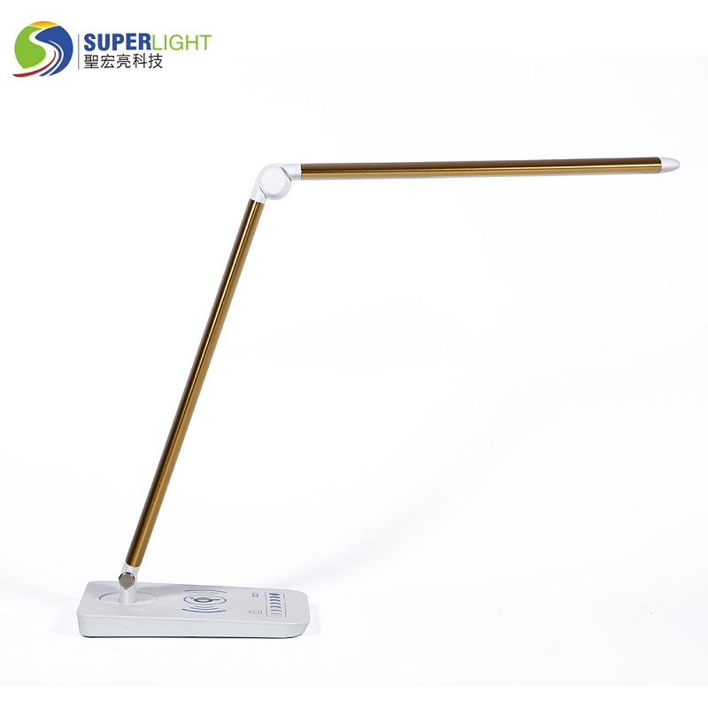 589sw dimmable desk lamp with Wireless Charging function 8w 3000k 90ra