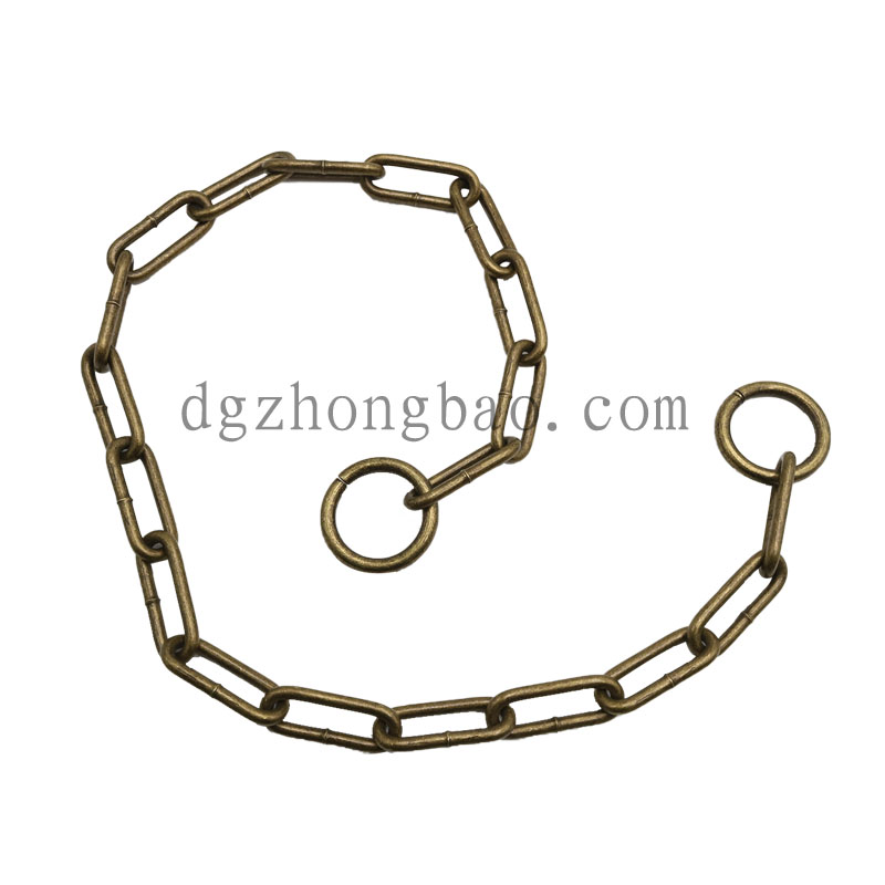Hardware chain pet leash collar