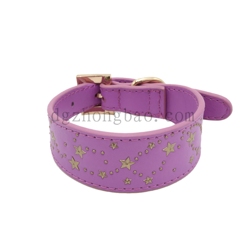Imitation Star metal stud pet collar
