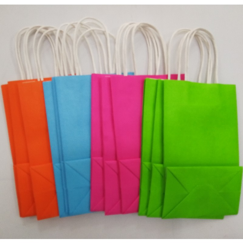 Brown Kraft Paper Carrier Bag Recyclable Handbags