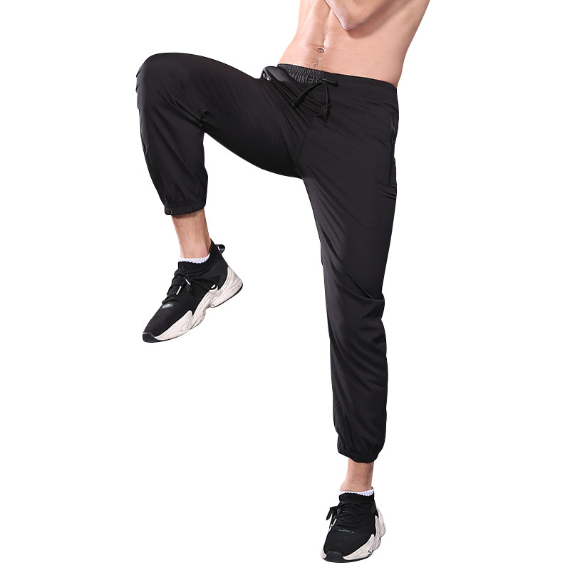 FDMM023-Men's Lightweight Joggers Pants Zipper Pockets Gym Workout Sweatpants