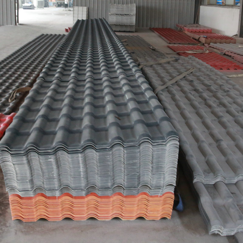 Competitive price low cost asa pvc polyester resin lightweight synthetic roof tile