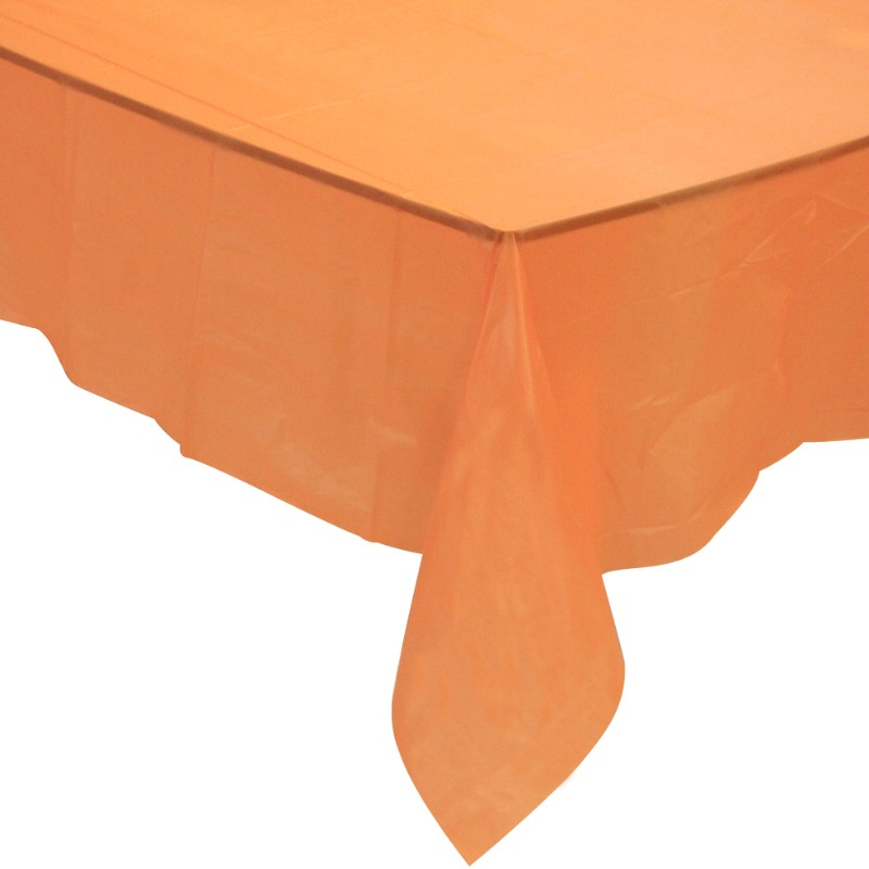 Solid Color Plastic Rectangle Dinner Tablecloth Tablecover for Events Decoration & Home Use