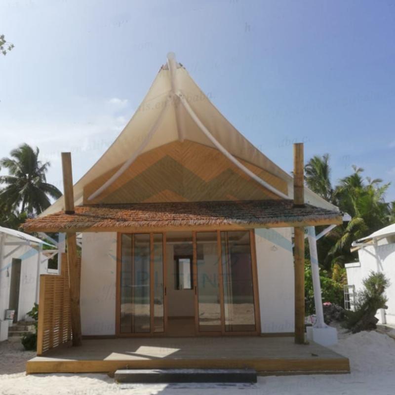 Maldives seaside resort hotel accommodation tents