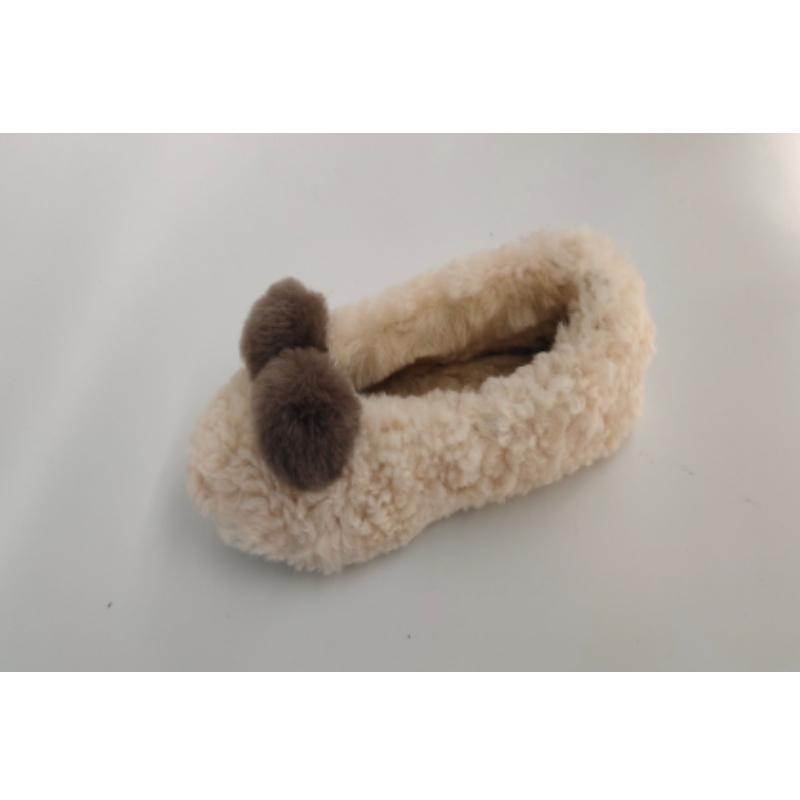 woolen soft indoor household slippers for women