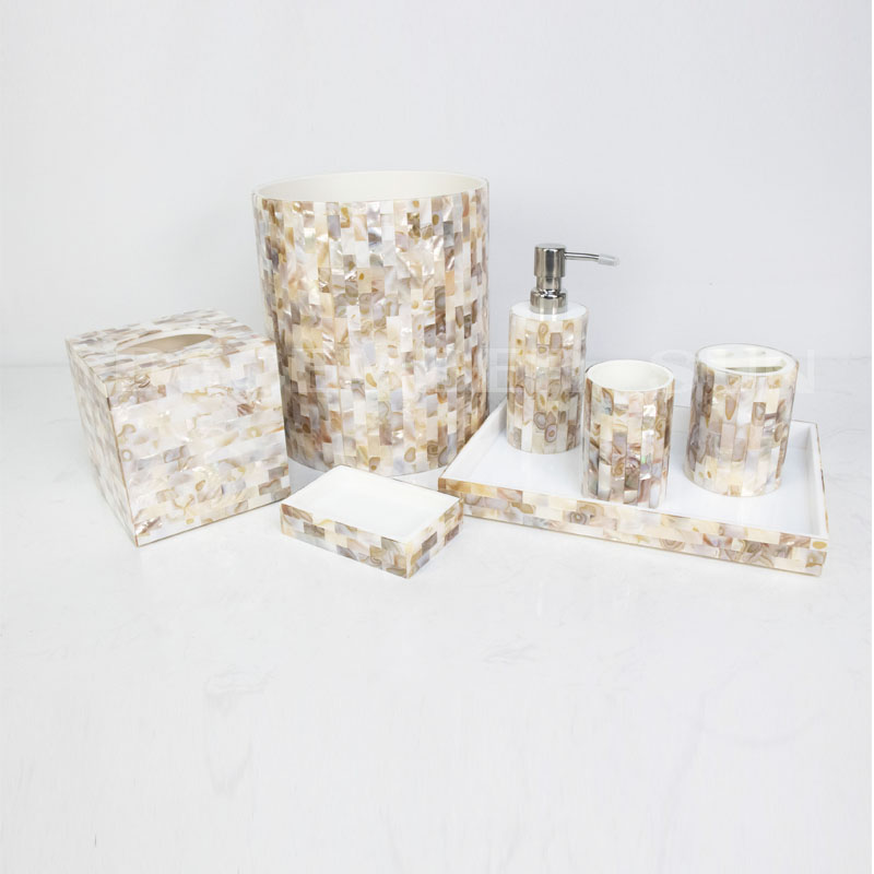 Beautiful design hotel resin bathroom accessories set