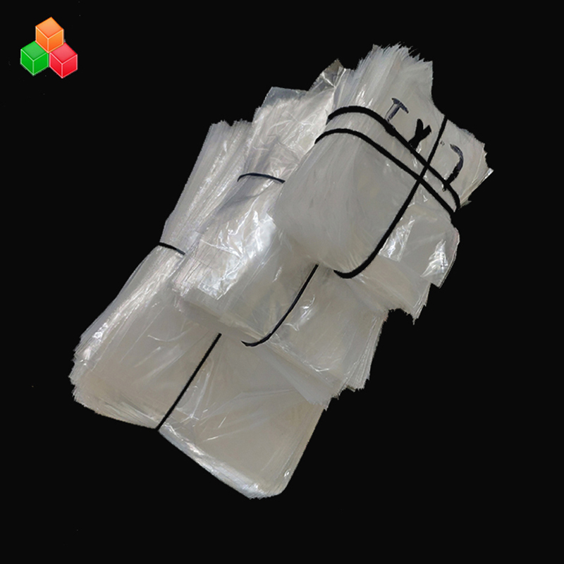 custom printed logo transparent recyclable shopping packaging non-toxic plastic pe bread / snack packing bag