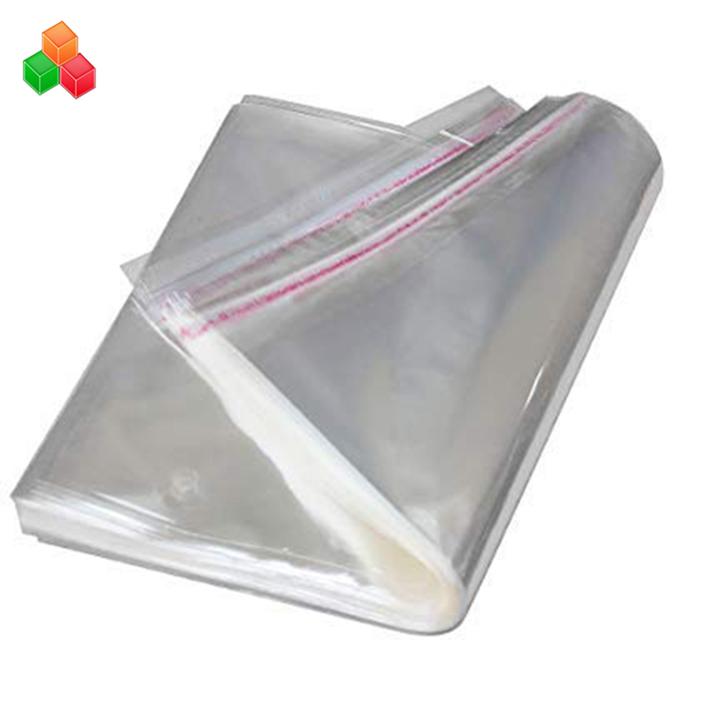 custom printing transparent self adhesive sealing plastic garment packaging bag opp plastic bags for clothing / t-shirt / snack