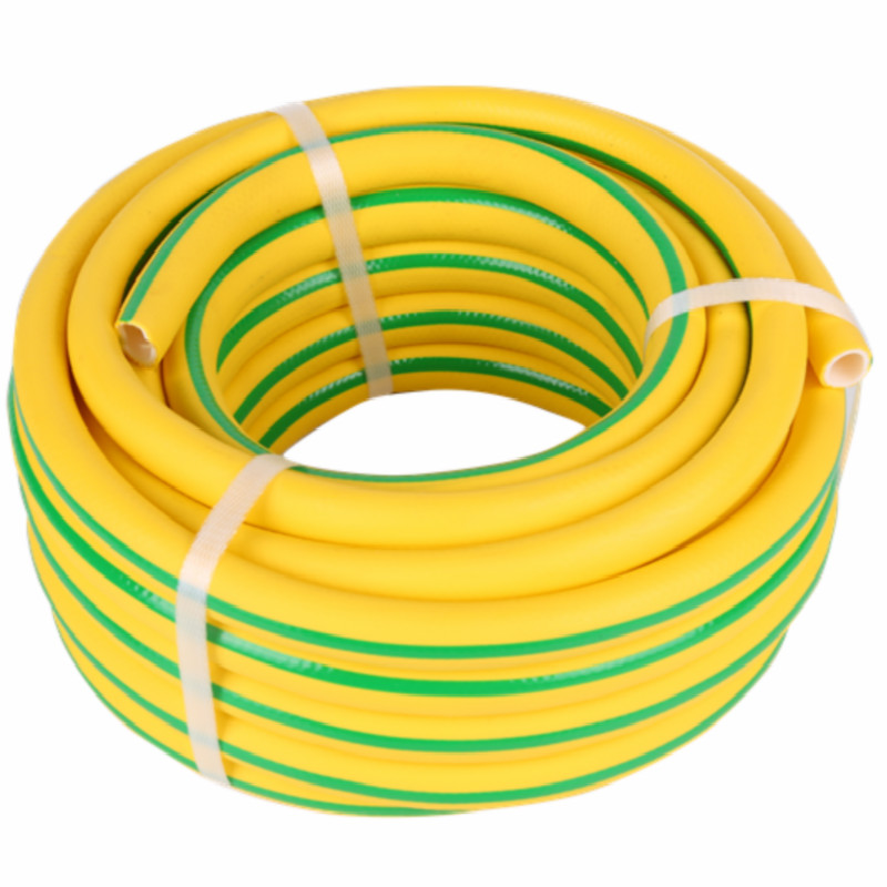 3-Layer yellow color with green ray superflex  pvc water Hose