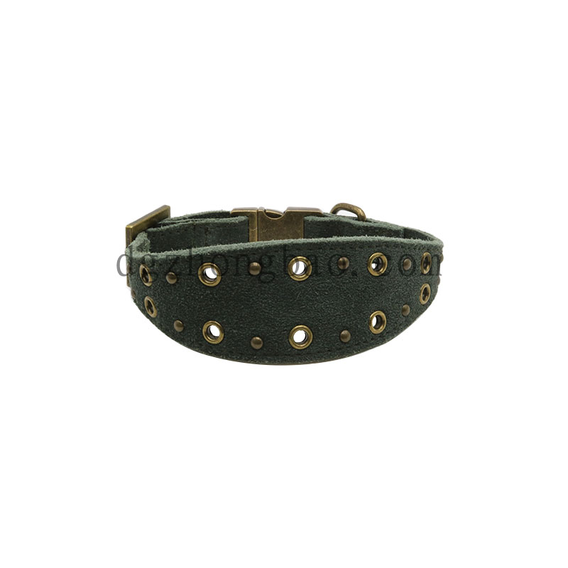 Stylish vintage green dog collars