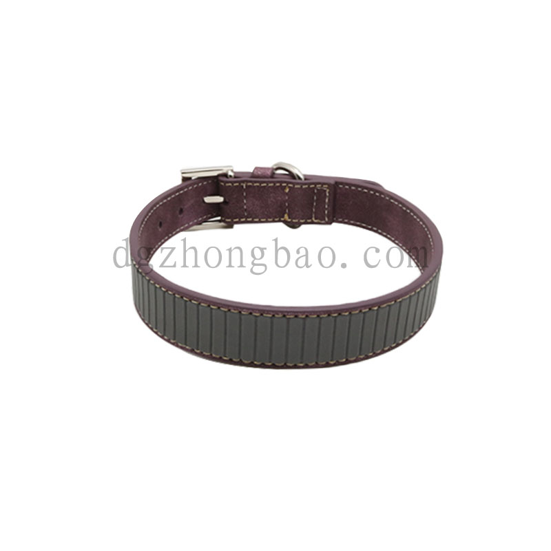 Pet leash collar reflective strip pressure nail
