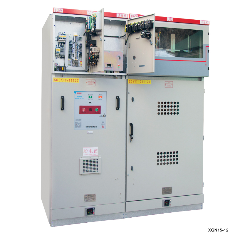 XGN15-24 (RMU) indoor high voltage sf6 gas insulated switchgear with circuit breaker (AIS) power distribution
