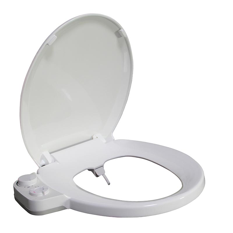 Round press button bidet toilet seat