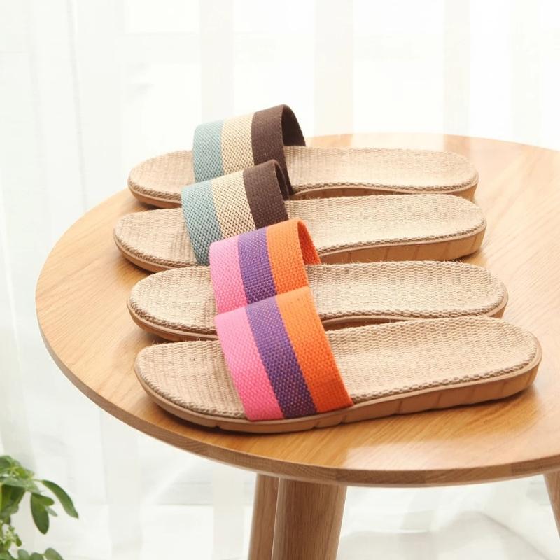 Linen slipper