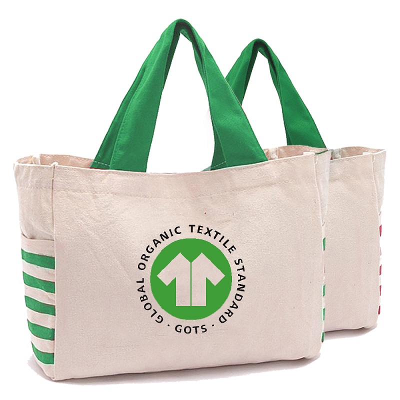 SG66 Environmentally Friendly Shopping Bag Custom Printing Standard Size Cotton Tote Bags