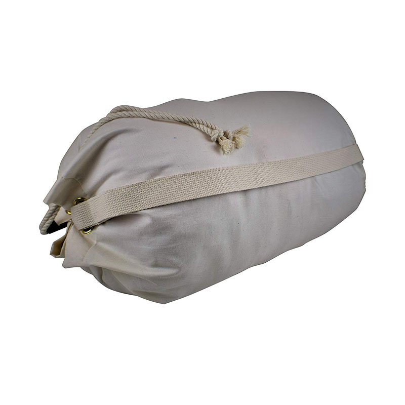 SG71 Eco-Friendly Organic Cotton Canvas Duffle Printable Hotel Drawstring Laundry Wash Bag Heavy Duty