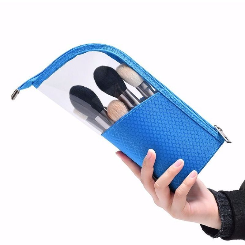 Upstanding Makeup Brush Holder Case Deformable Makeup Brush Bag