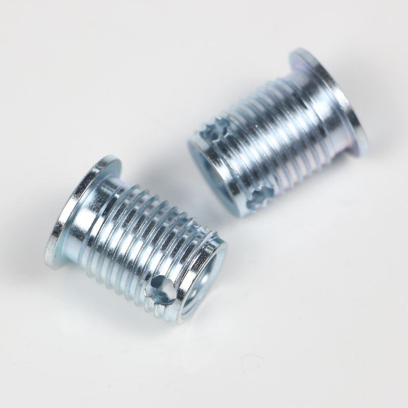 308 000 140.500 308 M14*2*18*2*24L self-tapping inserts with 3holes without burrs 500K stock