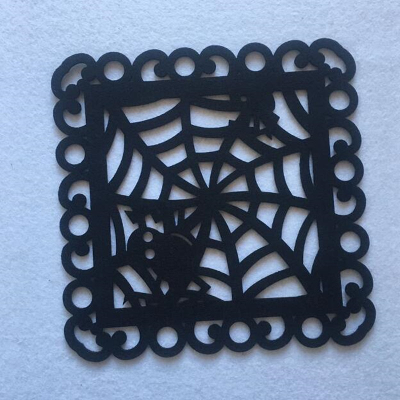 Halloween Black Felt Spider Web Placemat