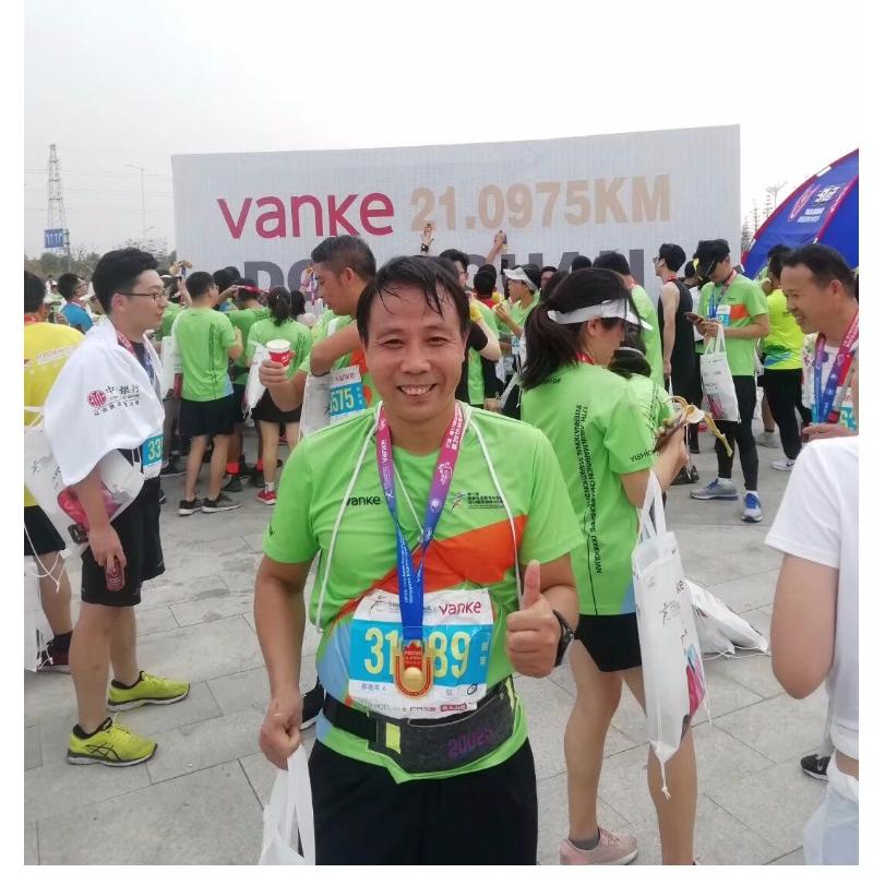 Marathon running sports