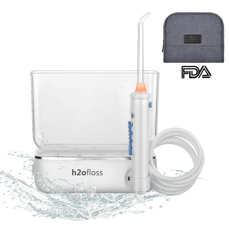 H2ofloss®Travel Water Dental Flosser Rechargeable and Cordless Oral Irrigator for Teeth Cleaning With 400ml Water Reservoir(HF-3)