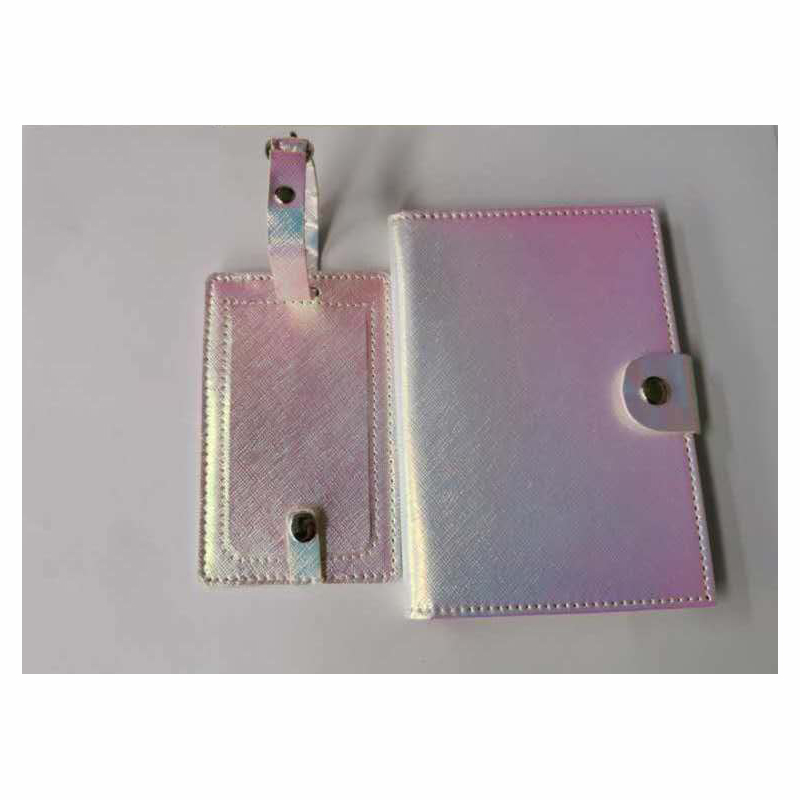 PU leather luggage tag & passport case