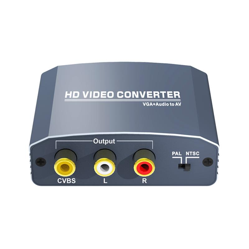 VGA+Stereo Audio to AV Converter Support 1080P