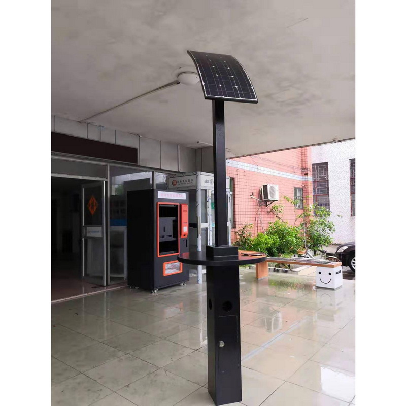 High Quality Solar Panel Upright Street Charging Station For Mobile Devices