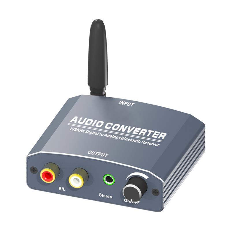 Digital to Analog Audio Converter with Bluetooth Receiver Support 192KHz