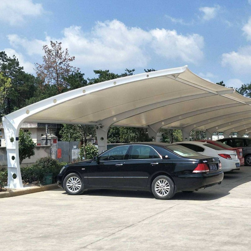 Prefabricated steel frame 10 car parking space shade structure tent for sale
