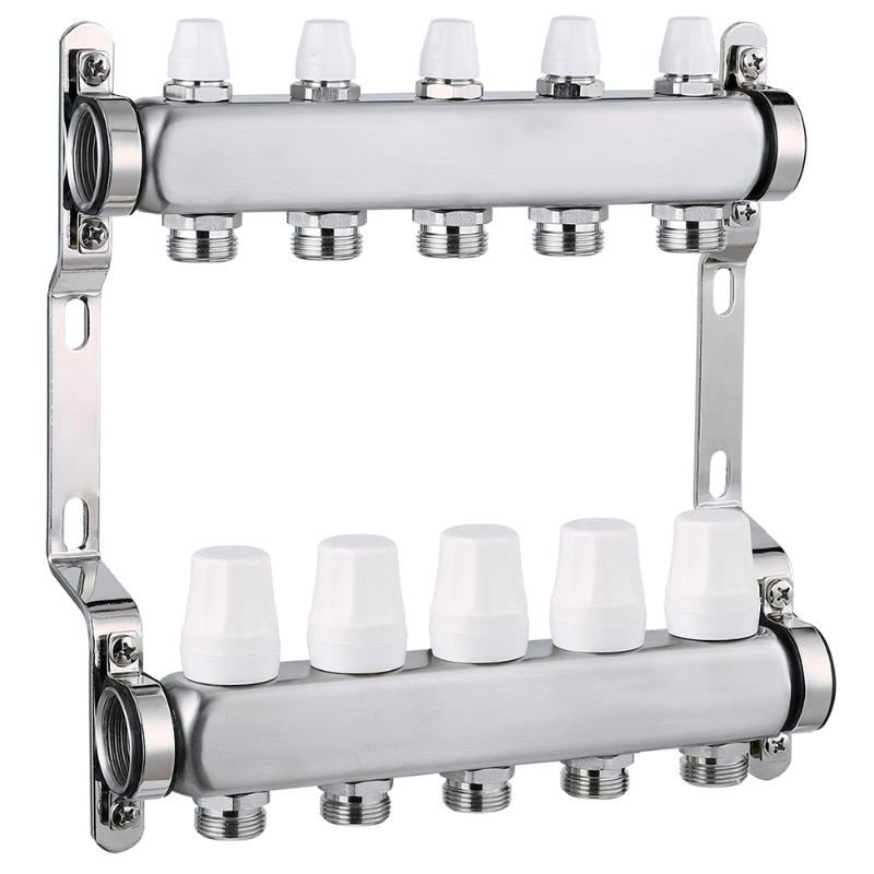 Digital nickel plated stainless steel heating 5 way manifold valve