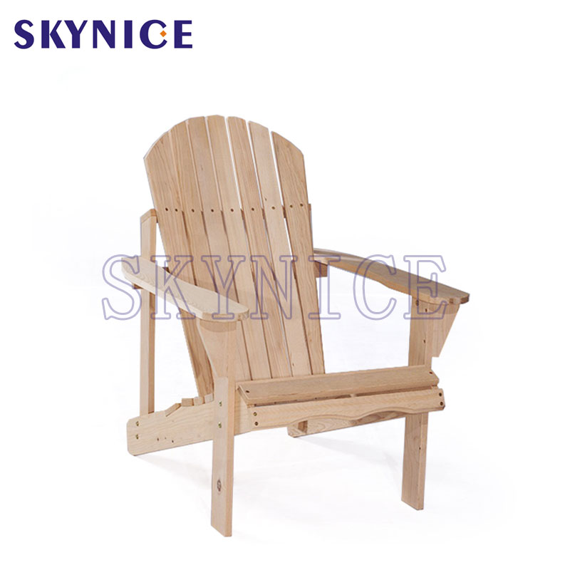 Outdoor Natural Fir Wood Rocking Chair Patio Deck Frog Chair