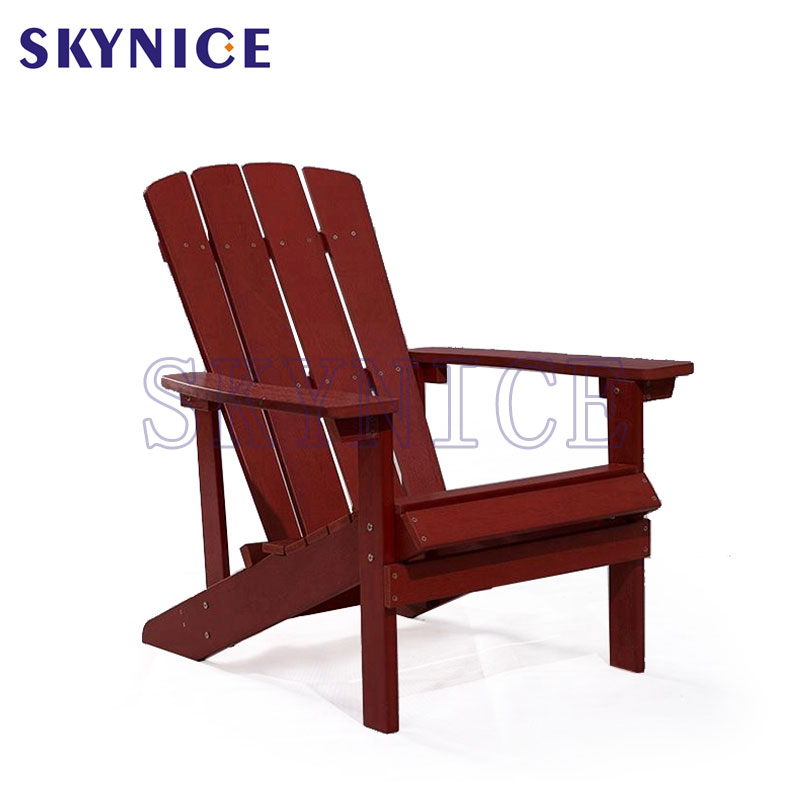 Solid Wood Outdoor Patio Garden Lounge Adirondack Chair