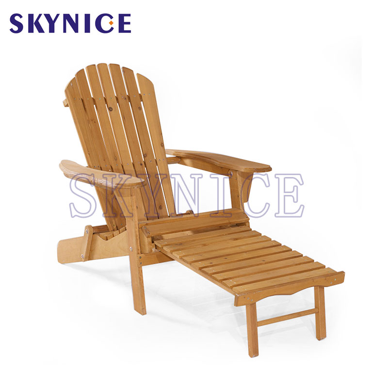 Garden Beach Chair Wood Adirondack Chair With Footrest