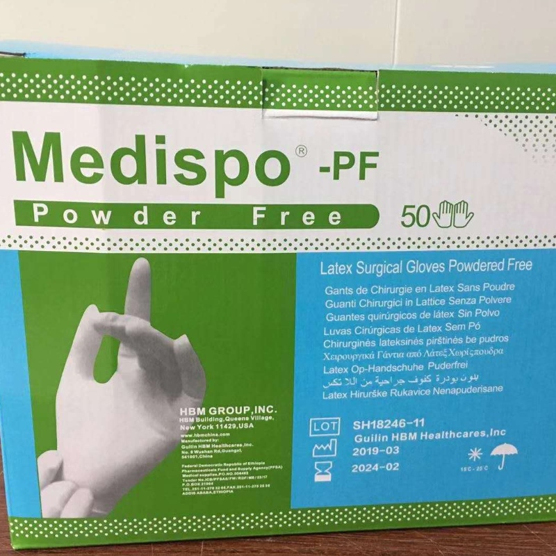 Aseptic Latex gloves