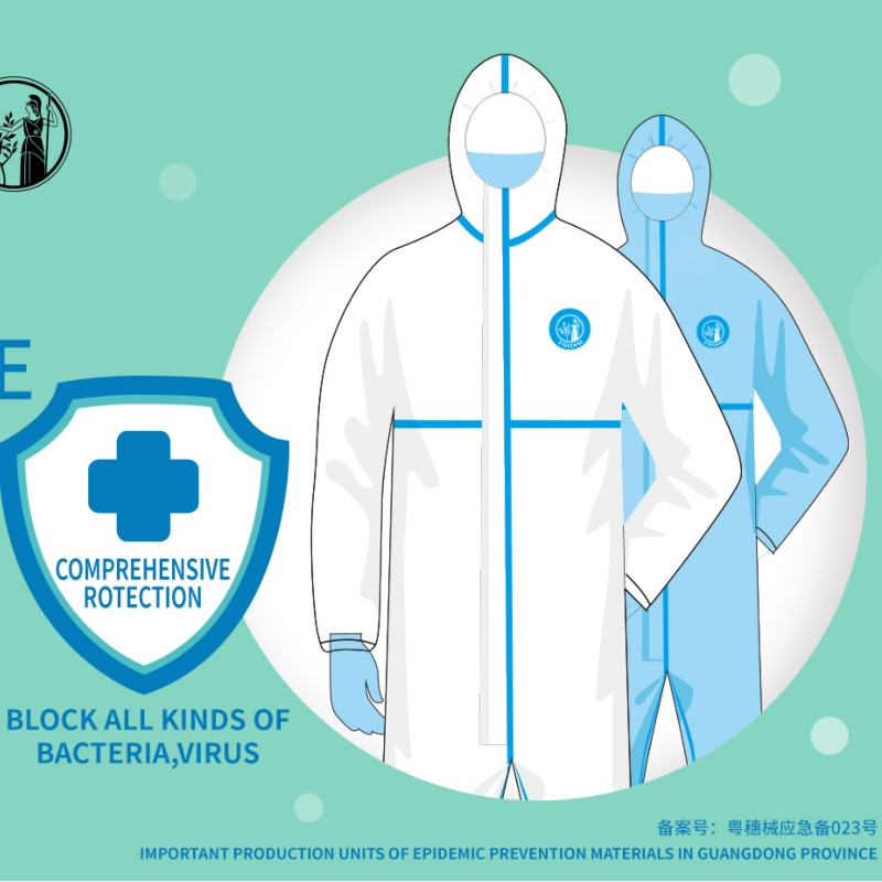 FOLUNSI Disposable Medical Protective Coveralls