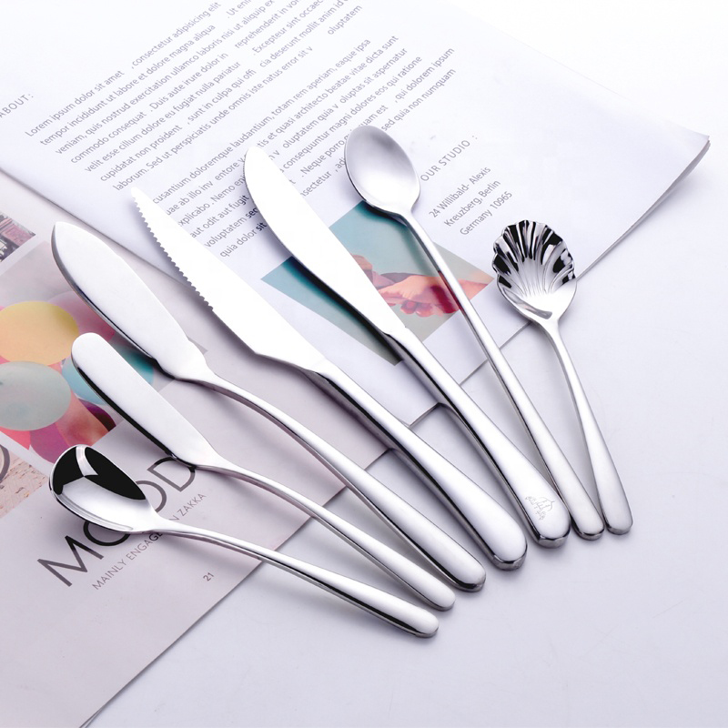 bulk dinner cutlery set flatware 18/10,stainless steel flatware used restaurant dinnerware